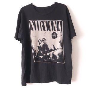 Nirvana 90s Graphic Grunge Rock N Roll Band Tee